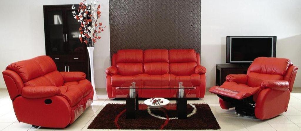 Moderní kožená sedací souprava Reglainer