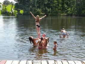 dovádění ve vodě