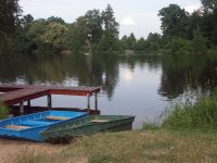Rybník Kalich a loďky