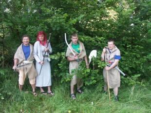 Vedení tábora v kostýmech