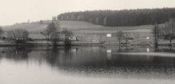 pohled od mlýna na rybník Kalich