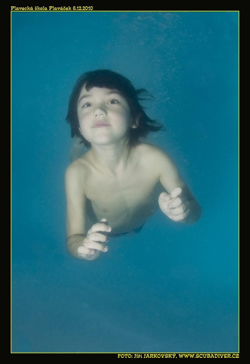 plavání dětí samostatně