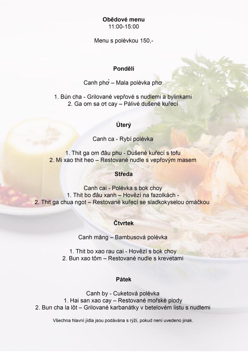 Obědové menu