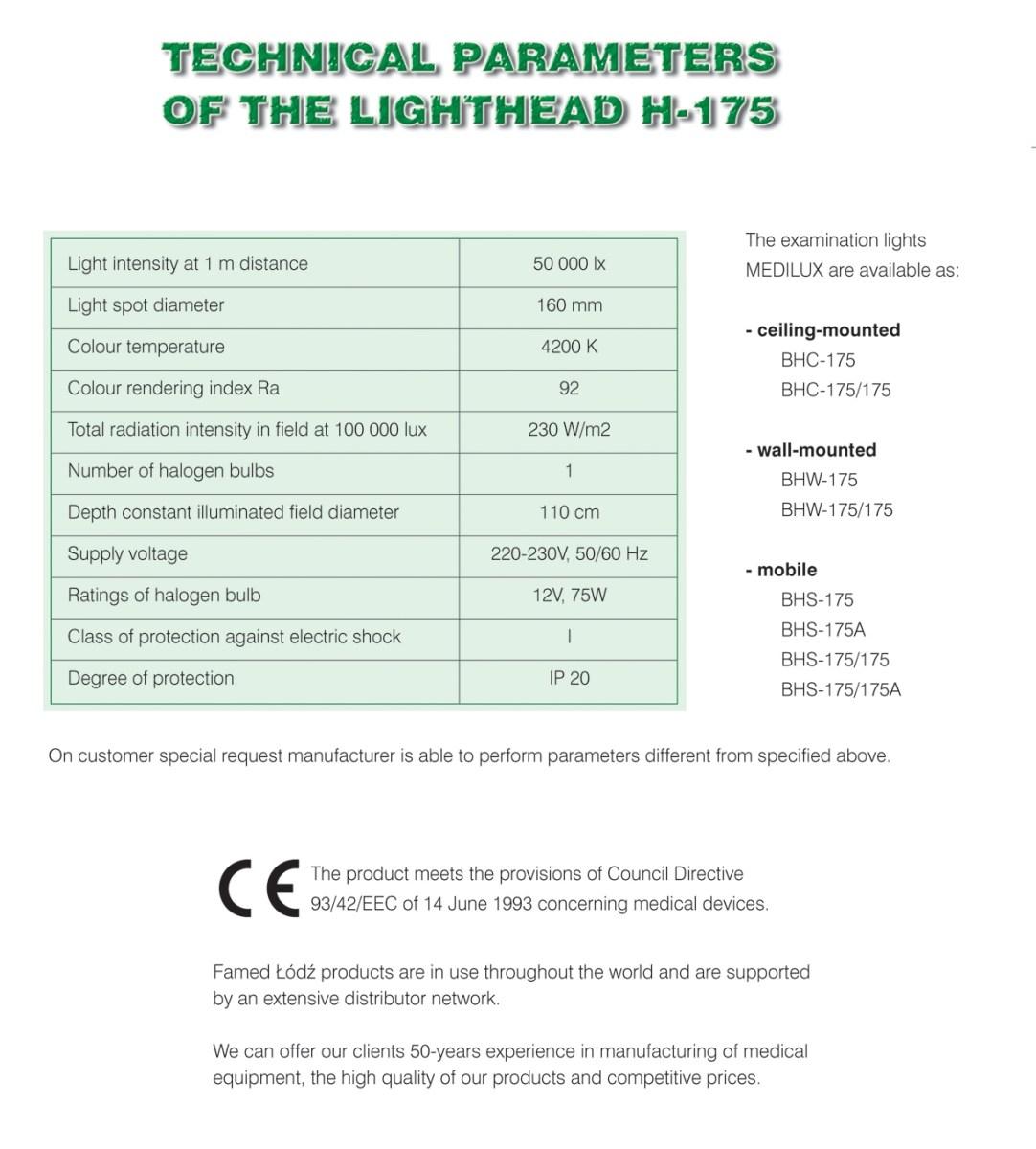 Operační a vyšetřovací svítidla