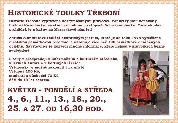 Historické toulky Třeboní