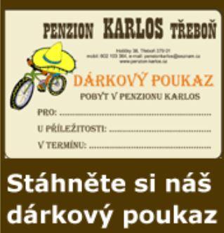 Penzion Karlos dárkový poukaz
