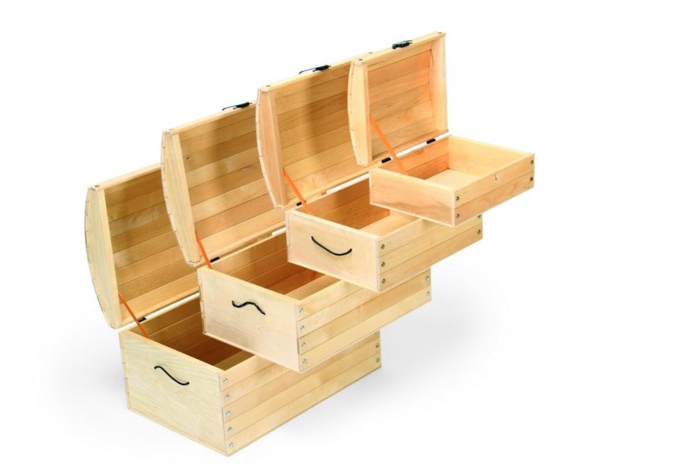 Varis dřevěné truhly otevřené