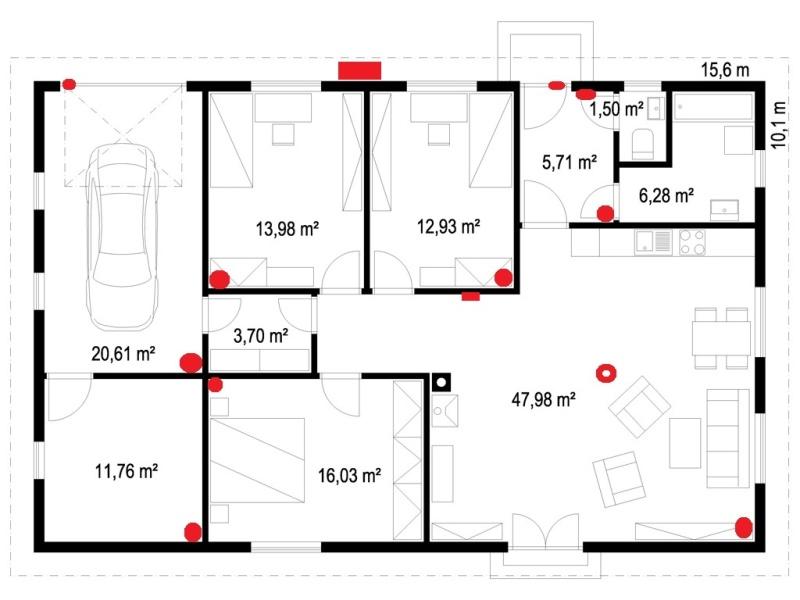 Půdorys typového domu