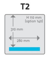 Plánek komora T2