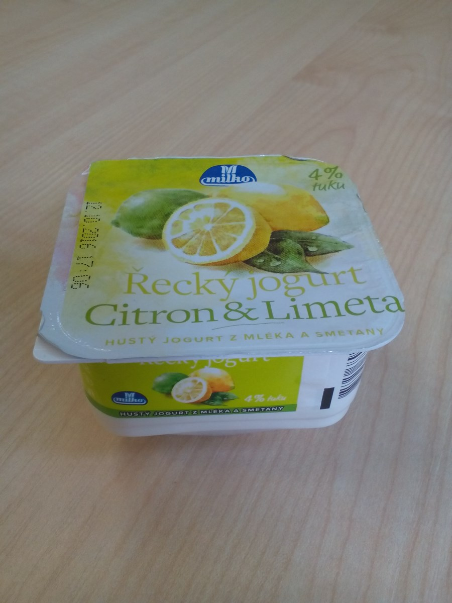 Jogurt citron a limeta
