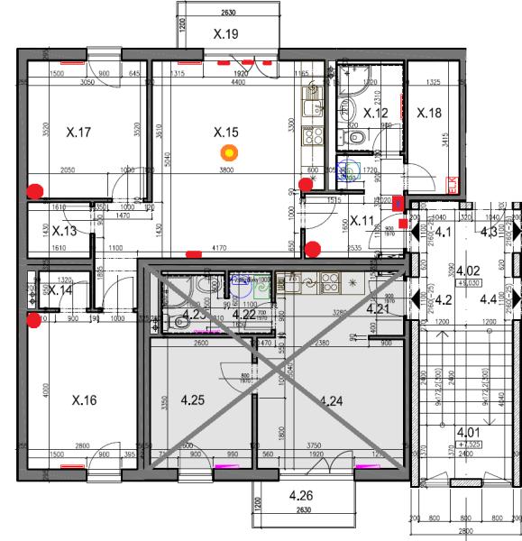 Půdorys typového bytu