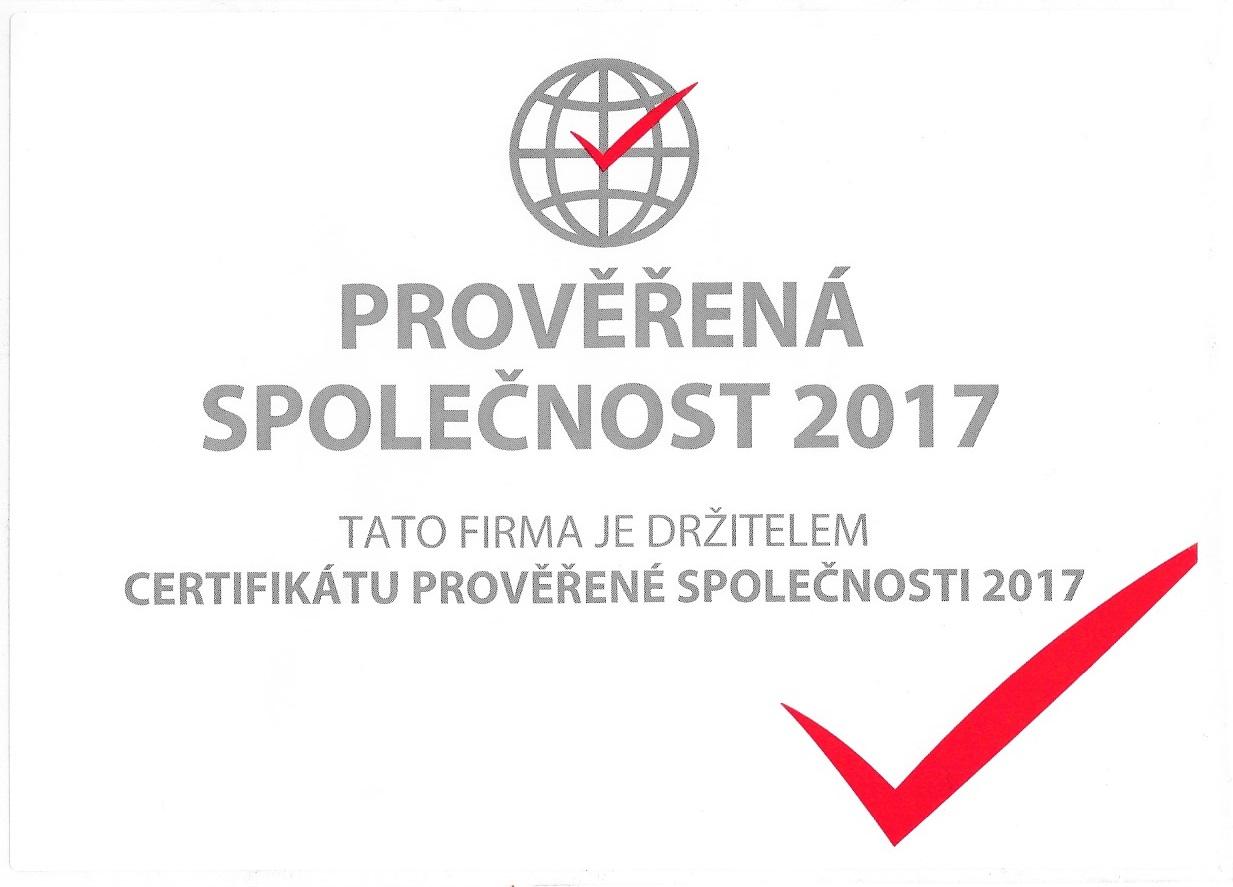 prověřená společnost 2017