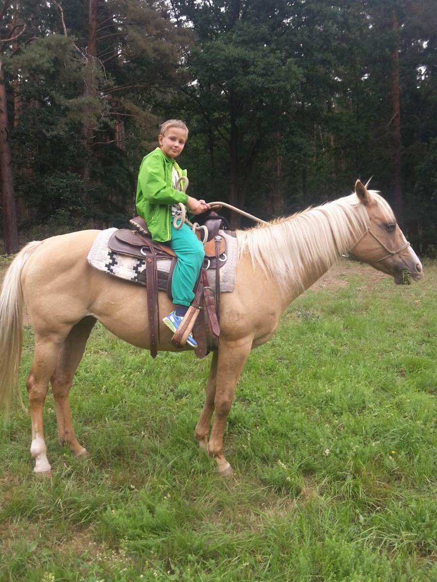 dítě na koni