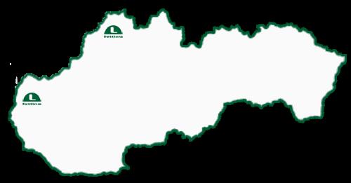 mapa poboček