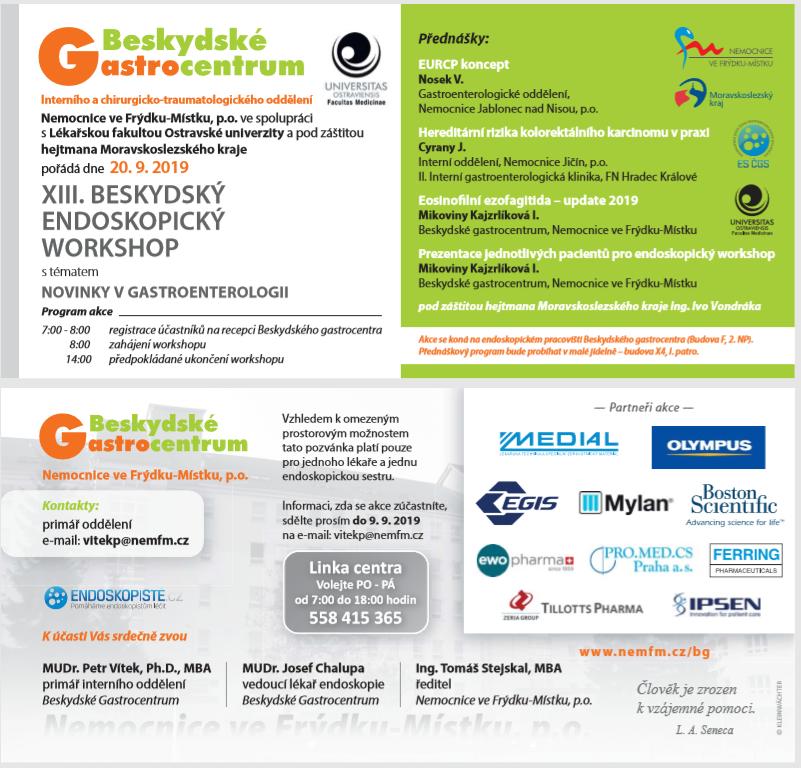 XIII. Beskydský endoskopický workshop