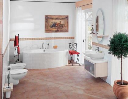 Koupelna s francouzským oknem