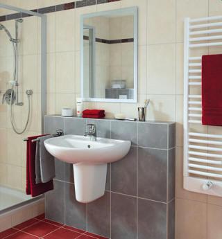 Podomítkové armatury v koupelně