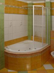 Dvoudílná zástěna sprchového koutu