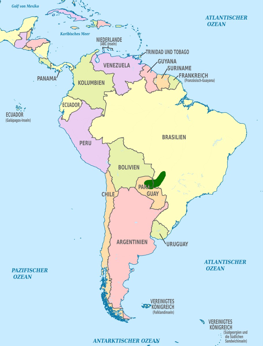 Mapa výskytu pyrury červenokřídlého