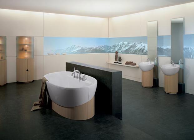 Prostorná, velká koupelna