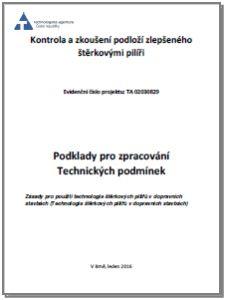 """Podklady pro TP """"Návrh a kontrola štěrkových pilířů"""""""