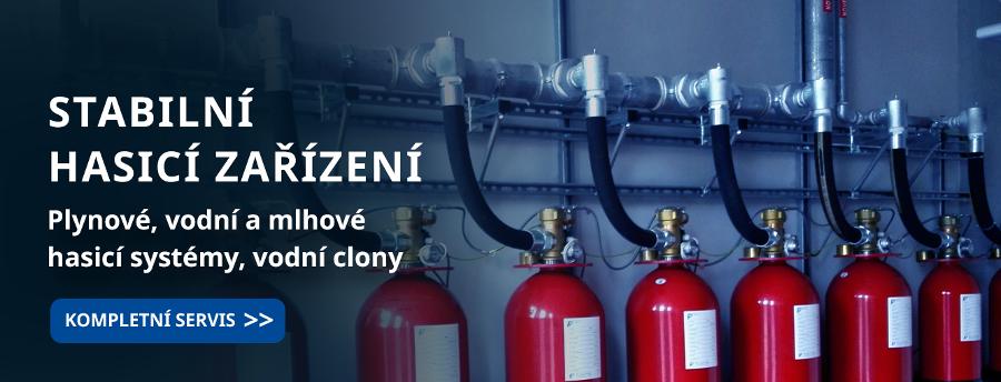 Hasící zařízení. Plynové a vodní hasicí systémy, vodní clony.