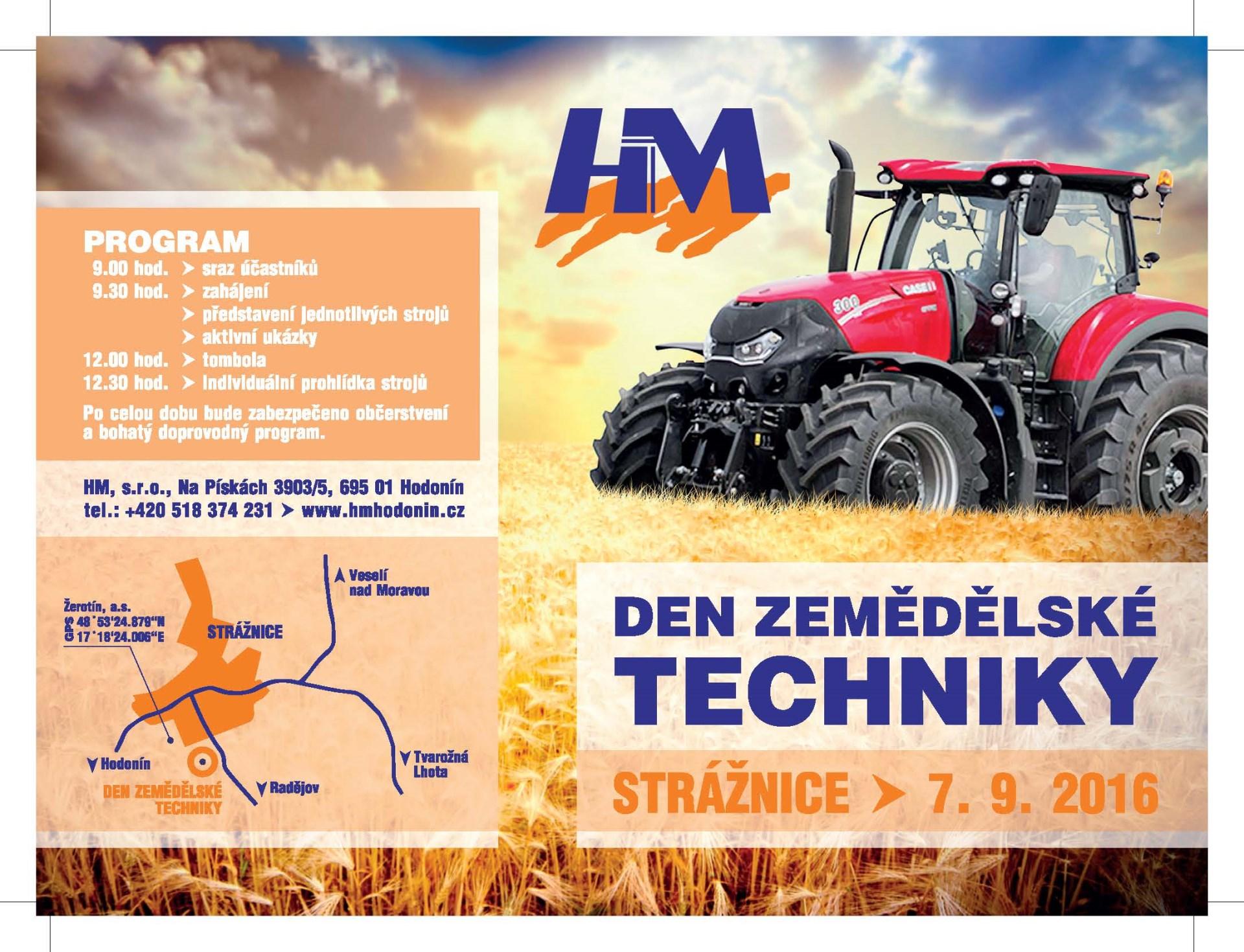 HM Hodonín - den zemědělské techniky