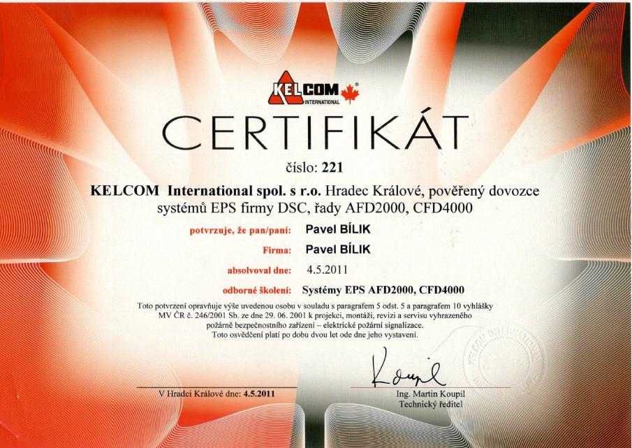 Certifikat DSC