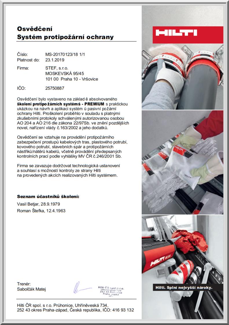 Certifikáty-Stef