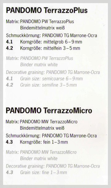 Pandomo TerazzoPlus