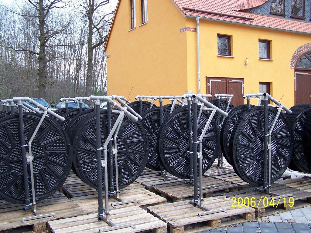 Nosič biomasy (ponorný biorotor, nosná konstrukce)