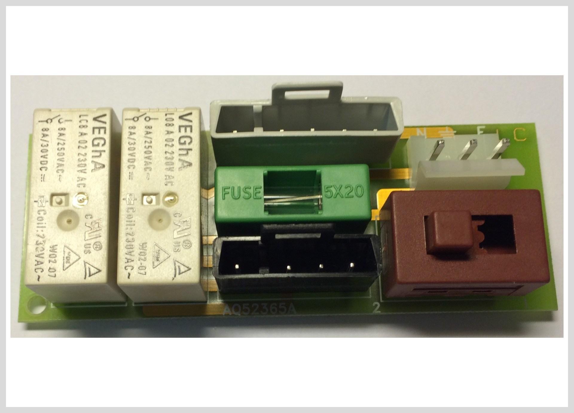 Elektronika připojení čerpadla M50