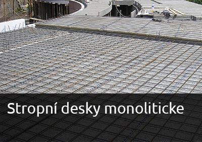 monolitické stropní desky