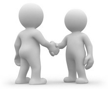 handshake ilustrace