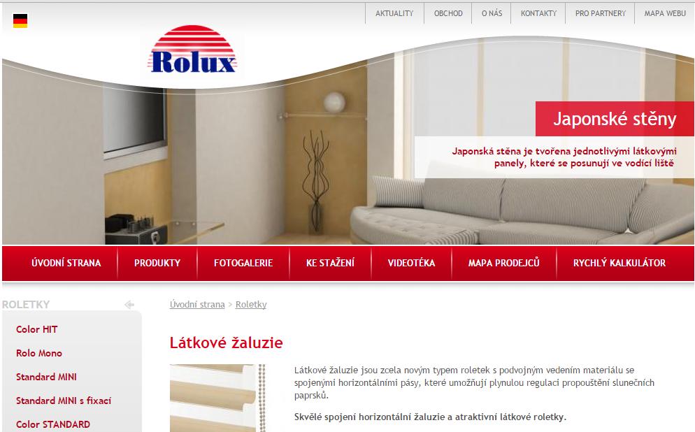 žaluzie Rolux