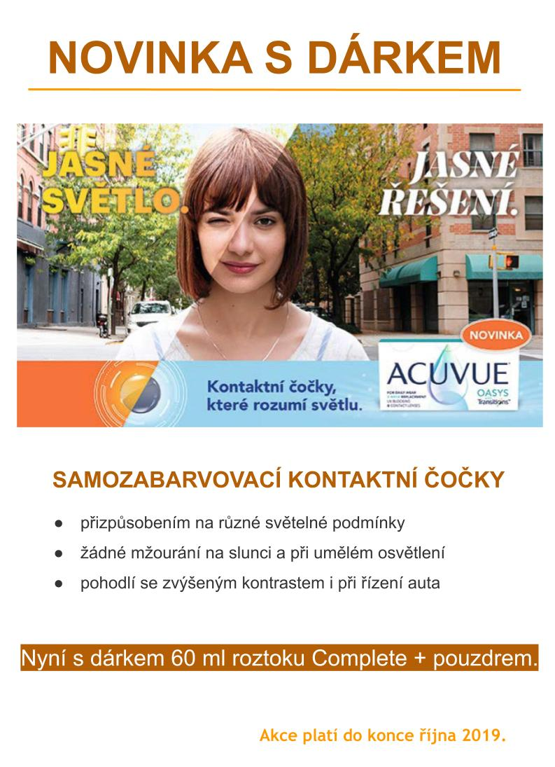 ACUVUE Transitions - akce HANEL Optik