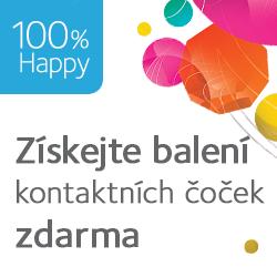 4. balení kontaktních čoček ZDARMA - 100% Happy