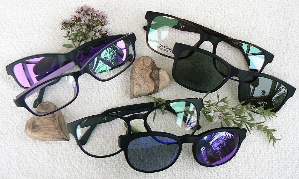 Dioptrické brýle se slunečním klipem
