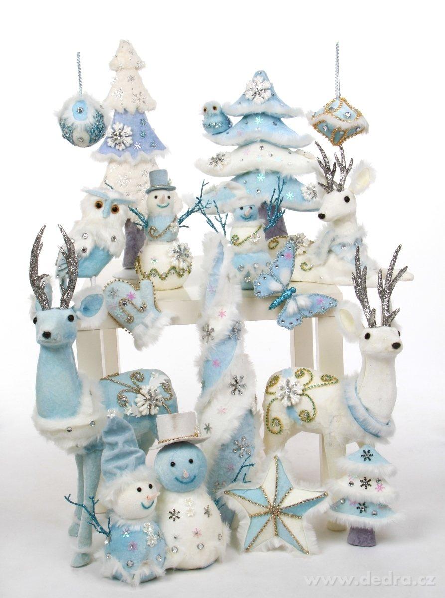 modrobílé dekorace dedra