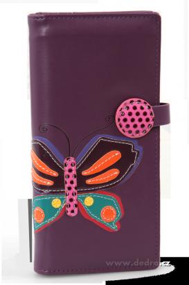 peněženka s motýlem