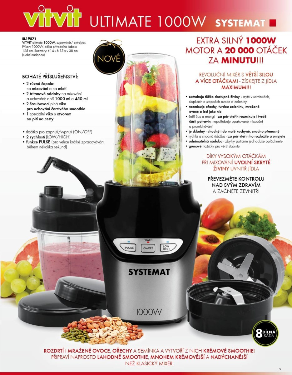 smoothie mixér systemat