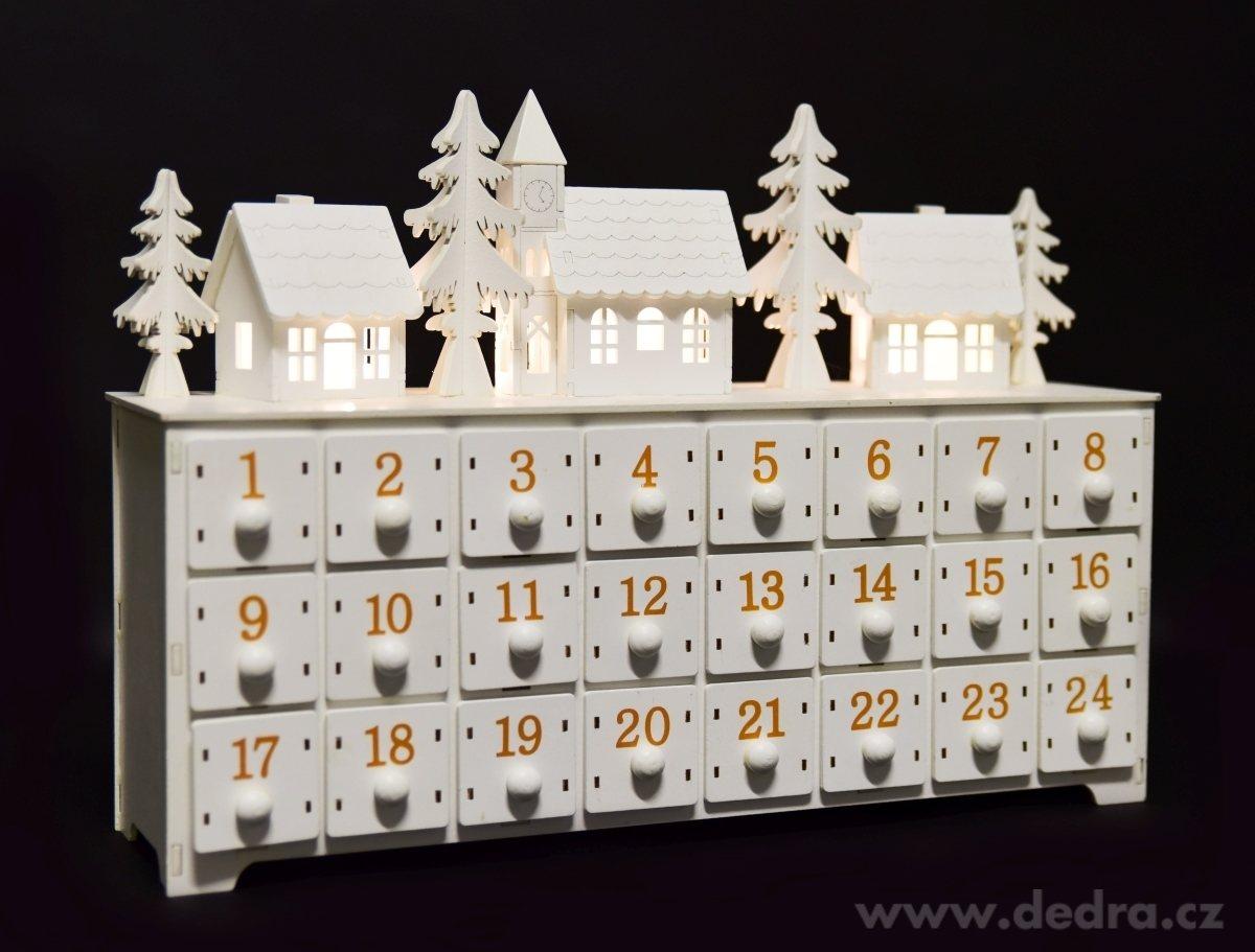 svítící adventní kalendář