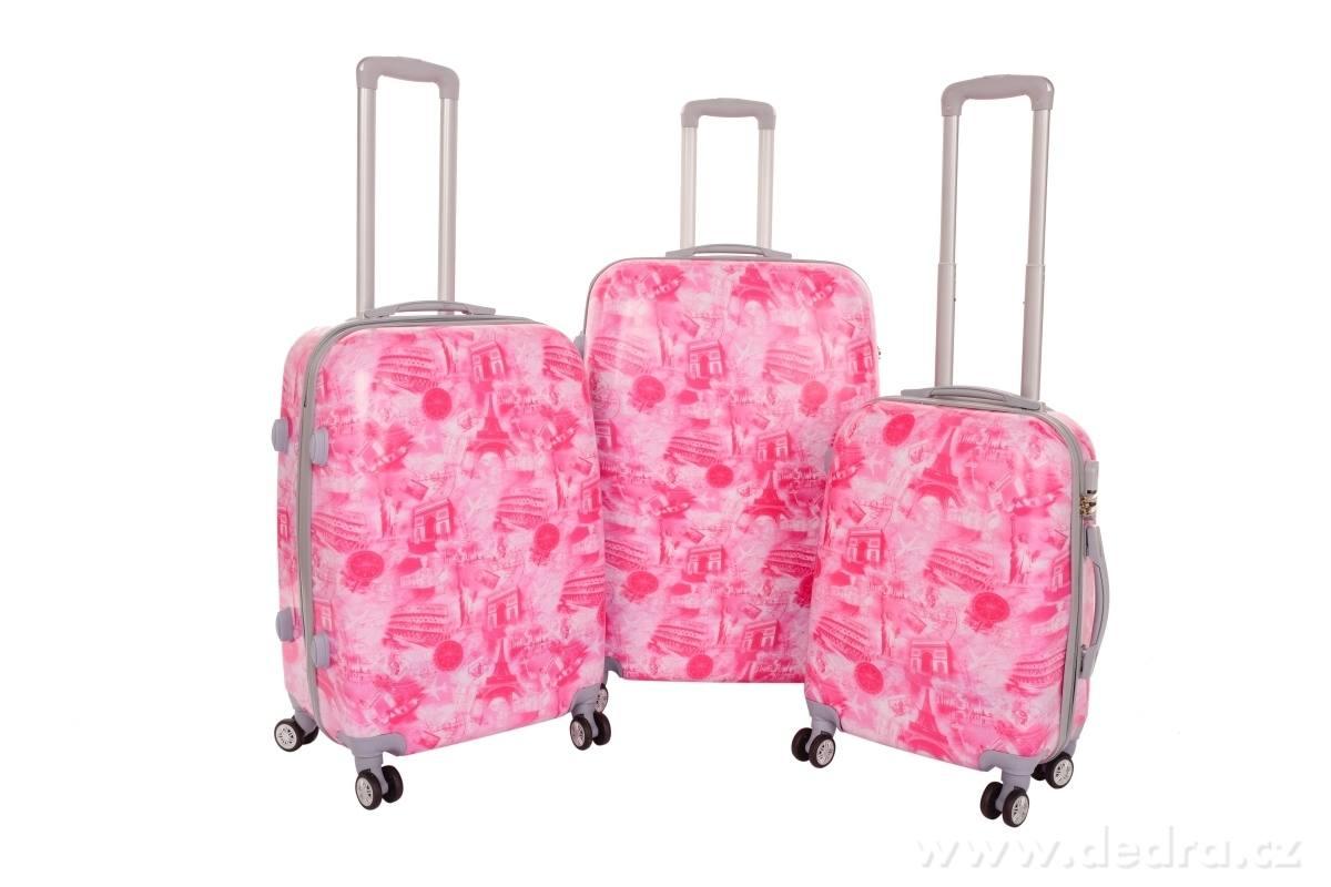 kufry růžové