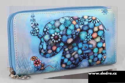 peněženka motiv slon